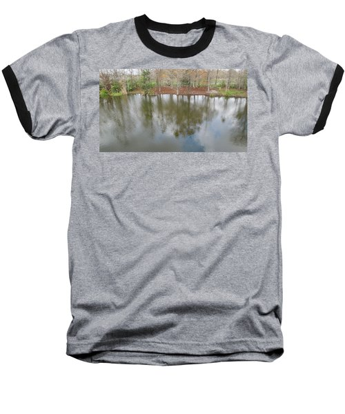 Baseball T-Shirt featuring the photograph Trees And Water by Ron Davidson