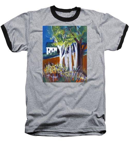 Trees And White Farm House Baseball T-Shirt