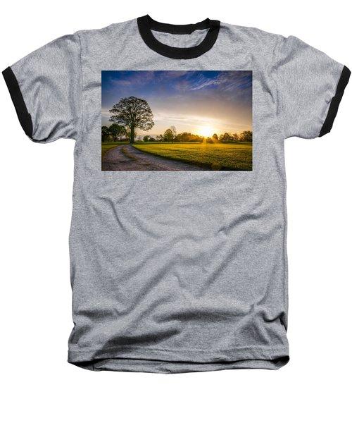 Trees At Dawn On Golf Course Baseball T-Shirt
