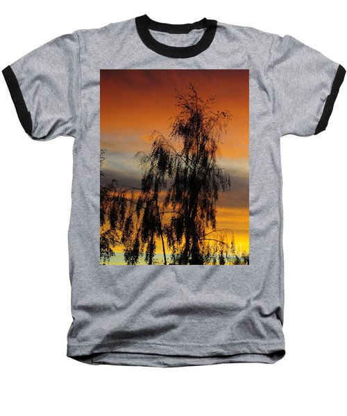 Trees In The Sunset Baseball T-Shirt