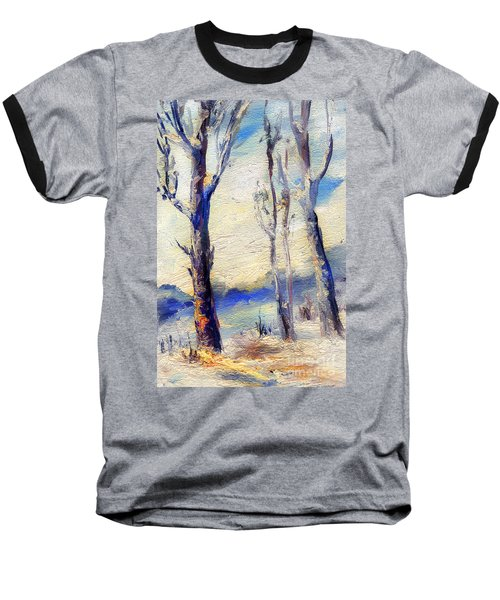 Trees In Winter Baseball T-Shirt
