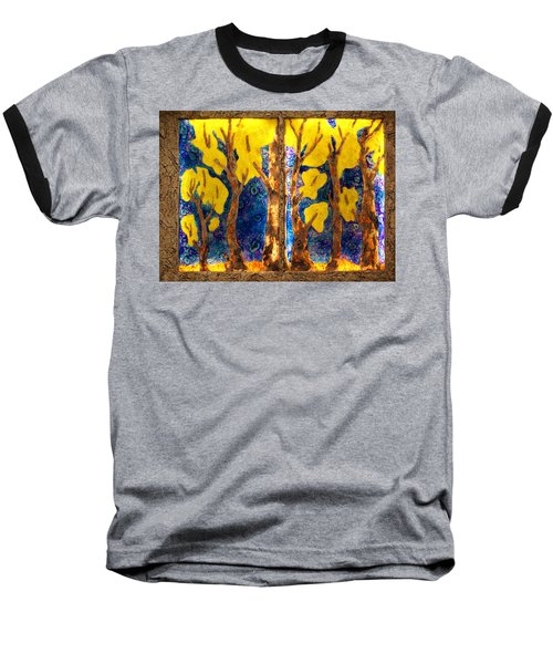 Trees Inside A Window Baseball T-Shirt