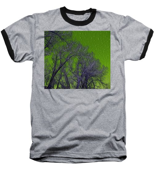 Trees On Green Sky Baseball T-Shirt
