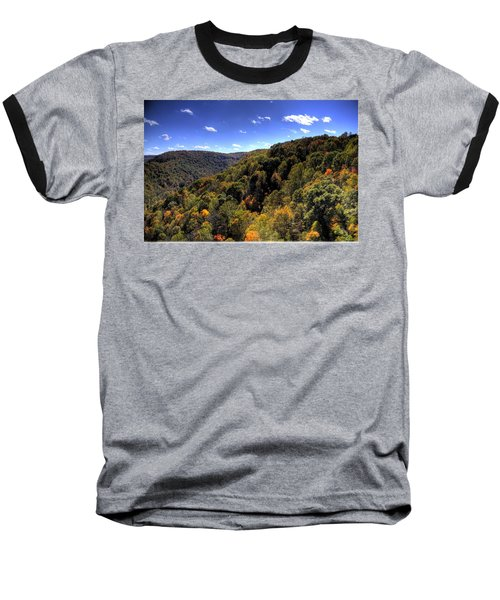 Trees Over Rolling Hills Baseball T-Shirt