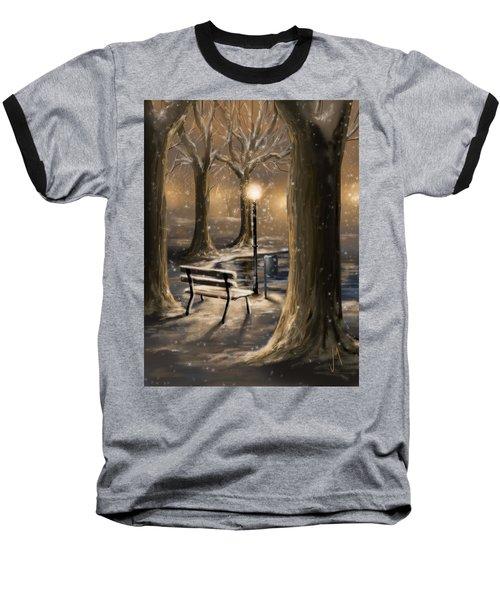 Trees Baseball T-Shirt by Veronica Minozzi