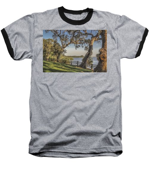 Baseball T-Shirt featuring the photograph Trees With A View by Jane Luxton