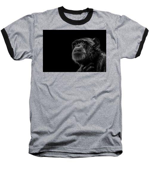 Trepidation Baseball T-Shirt by Paul Neville