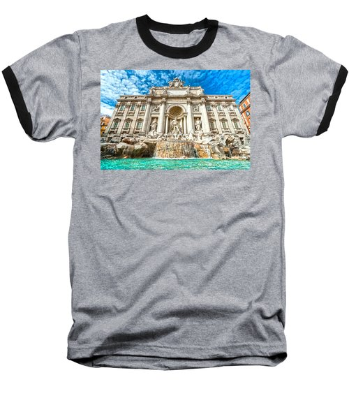 Trevi Fountain - Rome Baseball T-Shirt