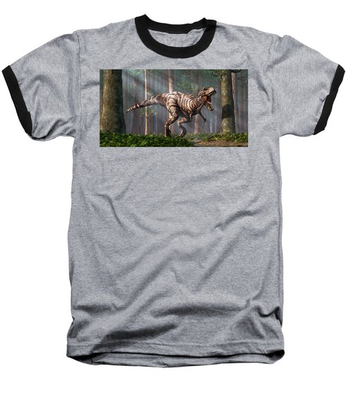 Trex In The Forest Baseball T-Shirt