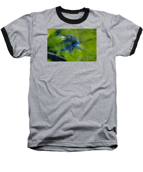 Baseball T-Shirt featuring the photograph Tri-colored Heron Concealed    by John F Tsumas