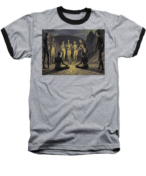 Baseball T-Shirt featuring the digital art Tribe by John Alexander