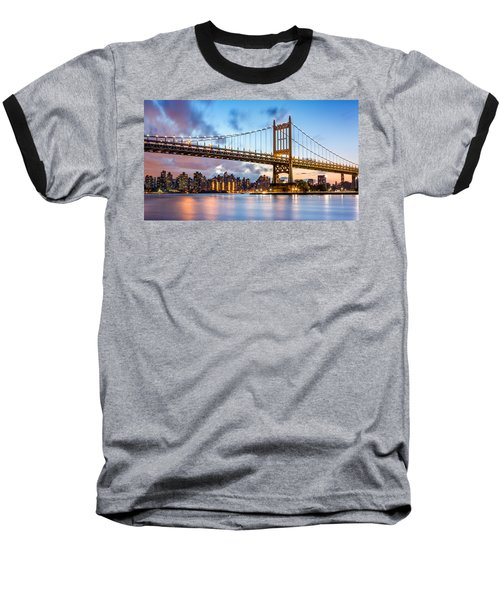 Triboro Bridge At Dusk Baseball T-Shirt