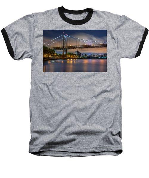 Triboro Bridge Baseball T-Shirt by Mihai Andritoiu
