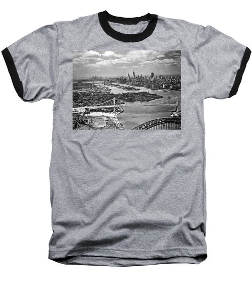 Triborough Bridge Is Completed Baseball T-Shirt by Underwood Archives
