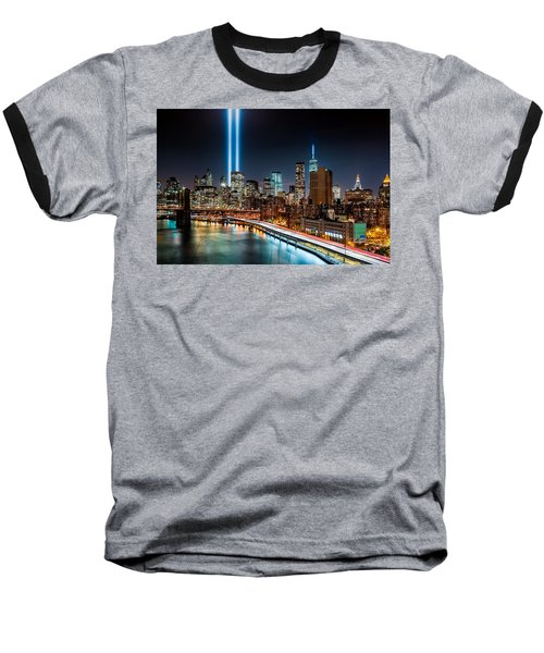 Tribute In Light Memorial Baseball T-Shirt