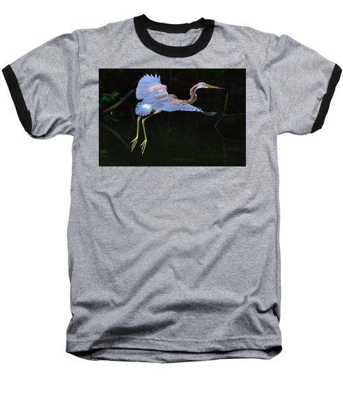 Baseball T-Shirt featuring the photograph Tricolored Heron by Charlotte Schafer