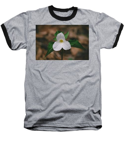 Baseball T-Shirt featuring the photograph Trillium by David Porteus