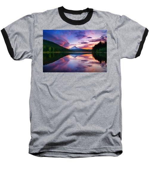 Trillium Lake Sunrise Baseball T-Shirt