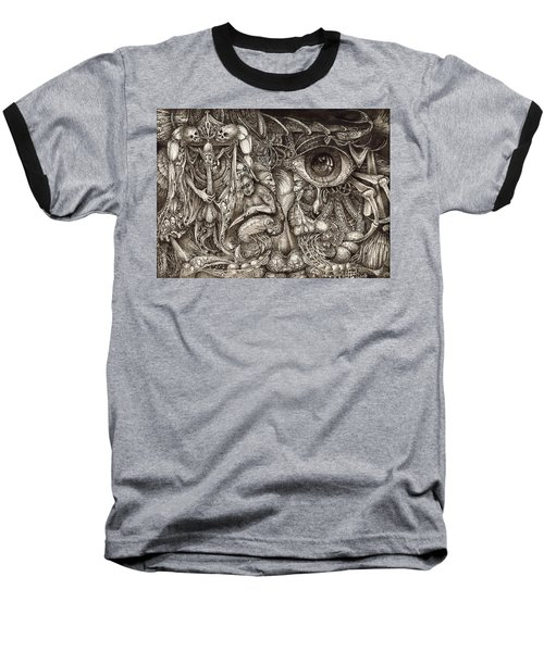 Tripping Through Bogomils Mind Baseball T-Shirt by Otto Rapp