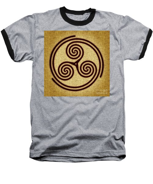 Triskelion  Baseball T-Shirt by Olga Hamilton