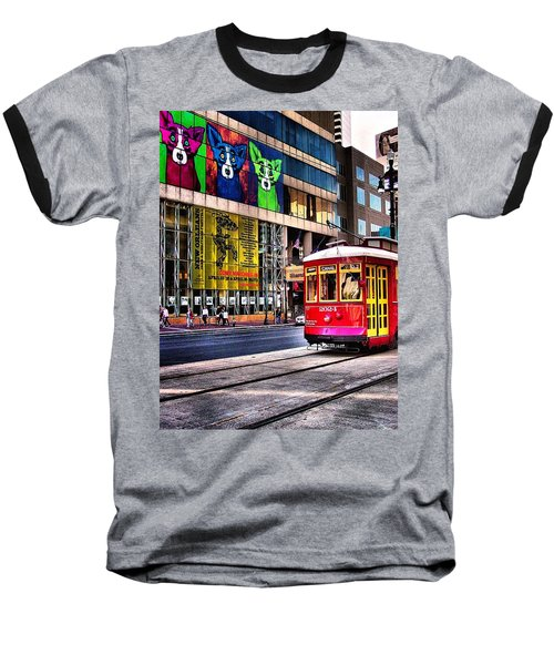 Baseball T-Shirt featuring the photograph Trolley Time by Robert McCubbin