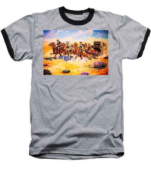 Troopers Stopping A Runaway Coach Baseball T-Shirt