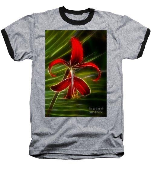 Tropical Abstract Baseball T-Shirt