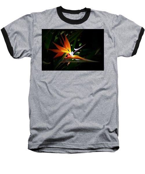 Tropical Bloom Baseball T-Shirt