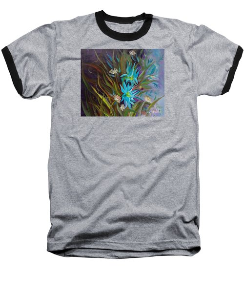 Tropical Blue Baseball T-Shirt