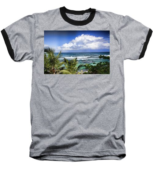 Tropical Dreams Baseball T-Shirt by Daniel Sheldon