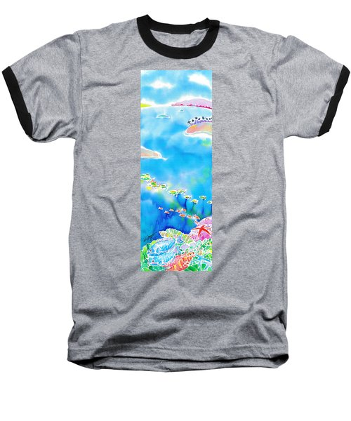 Tropical Fishes Baseball T-Shirt