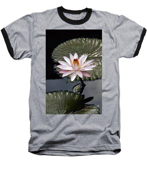 Tropical Floral Elegance Baseball T-Shirt by Byron Varvarigos