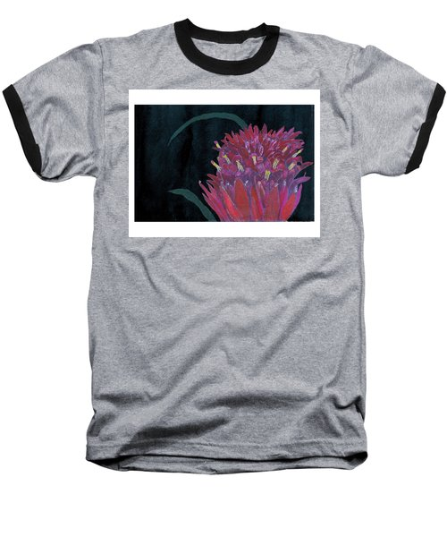 Baseball T-Shirt featuring the mixed media Tropical Flower by C Sitton
