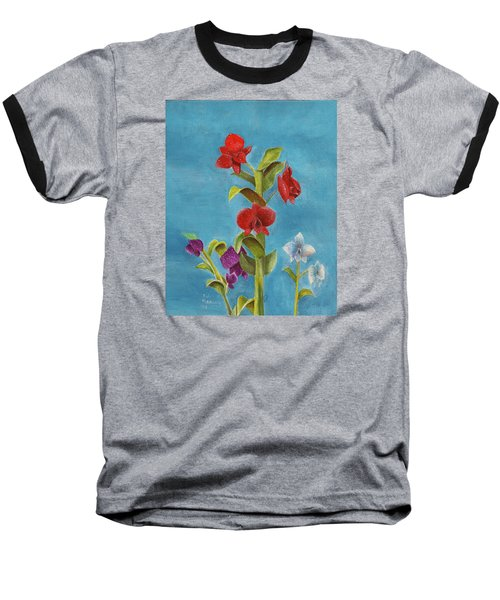 Baseball T-Shirt featuring the painting Tropical Flower by Thomas J Herring