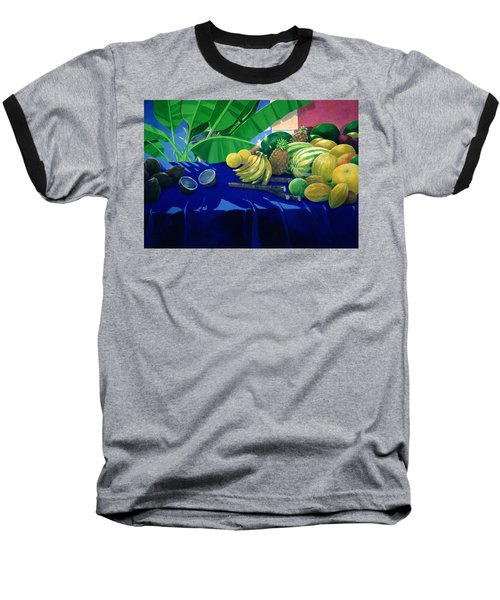 Tropical Fruit Baseball T-Shirt by Lincoln Seligman