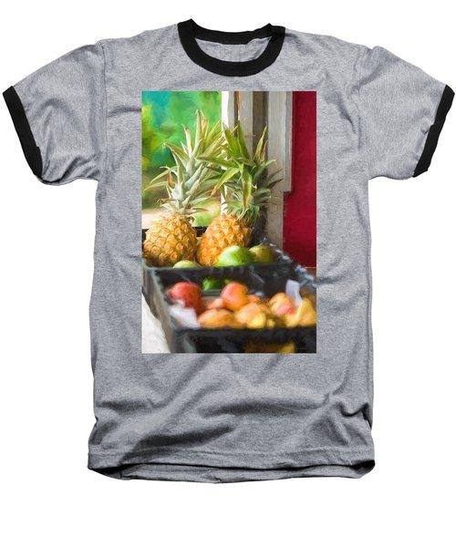 Tropical Fruitstand Baseball T-Shirt