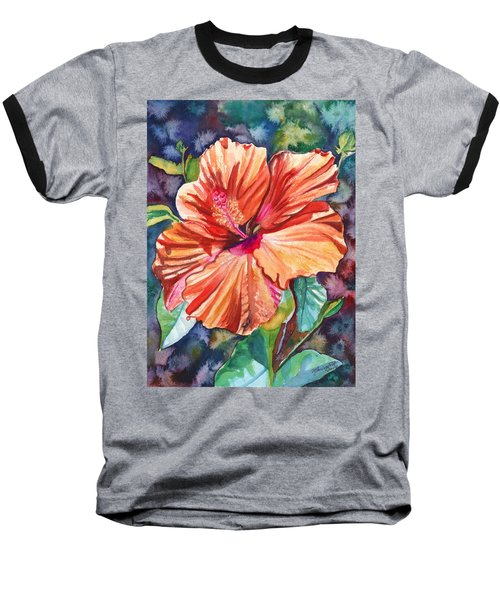 Tropical Hibiscus 5 Baseball T-Shirt