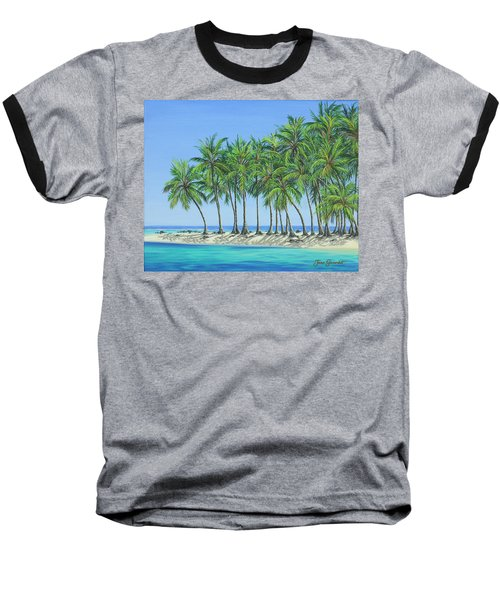 Tropical Lagoon Baseball T-Shirt