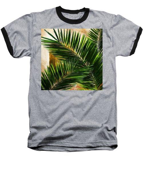 Tropical Leaves Baseball T-Shirt