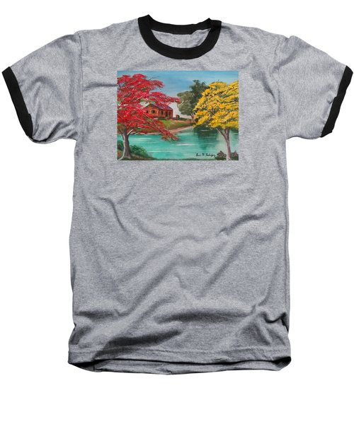 Tropical Lifestyle Baseball T-Shirt by Luis F Rodriguez
