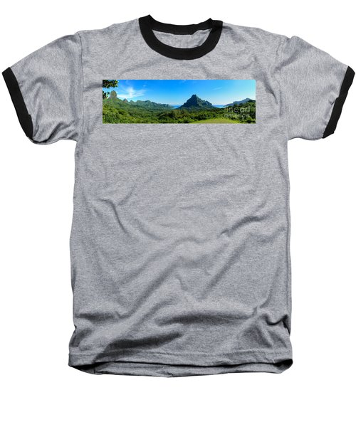 Tropical Moorea Panorama Baseball T-Shirt