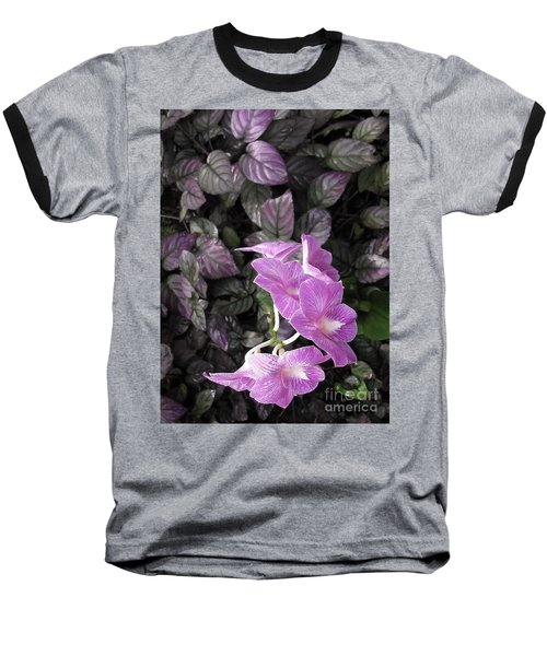 Tropical Orchids Baseball T-Shirt
