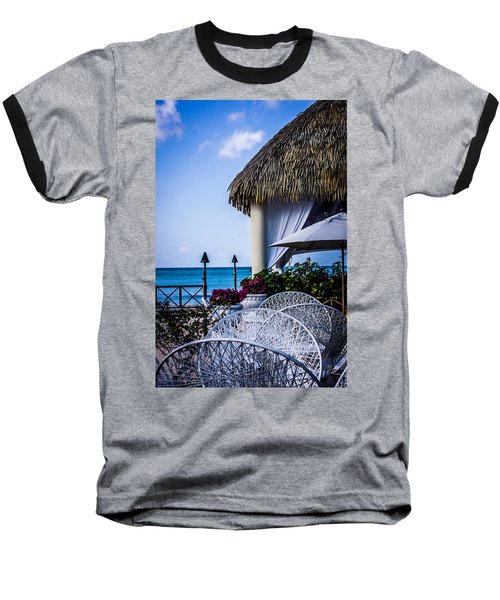 Tropical Paradise Baseball T-Shirt by Sara Frank