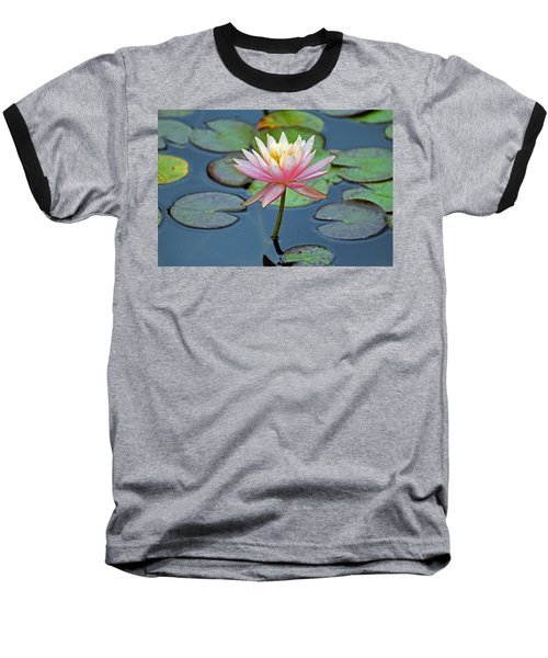 Tropical Pink Lily Baseball T-Shirt