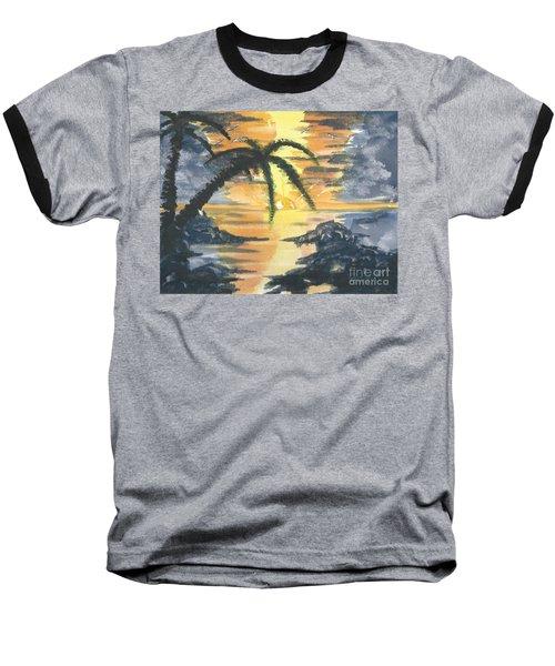Tropical Sun Baseball T-Shirt