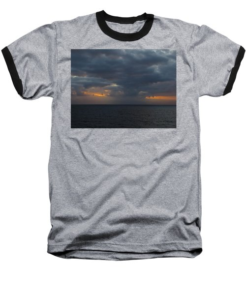 Baseball T-Shirt featuring the photograph Troubled Skies by Jennifer Wheatley Wolf