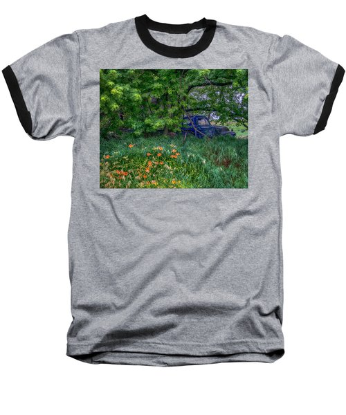 Truck In The Forest Baseball T-Shirt