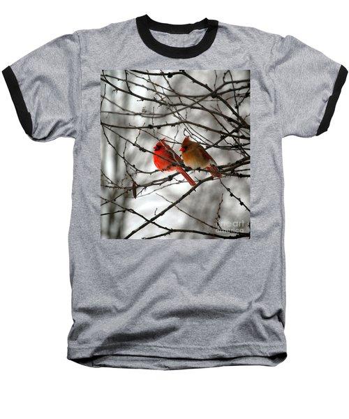 True Love Cardinal Baseball T-Shirt by Peggy Franz