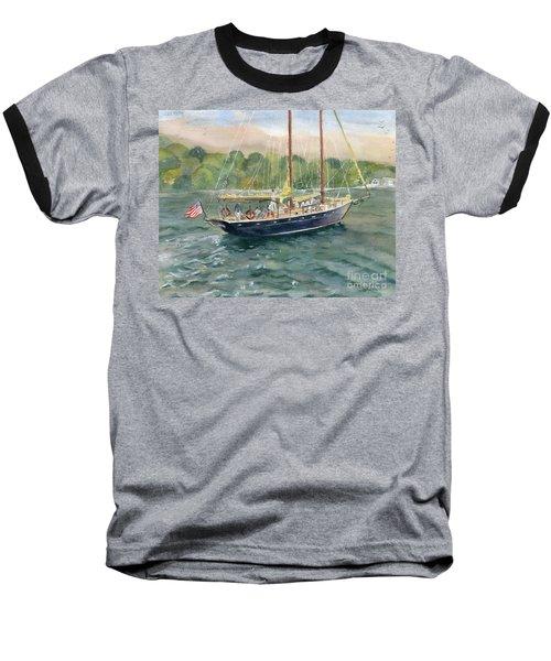 True Love Schooner Baseball T-Shirt by Melly Terpening