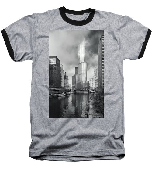 Baseball T-Shirt featuring the photograph Trump Tower In Chicago by Steven Sparks